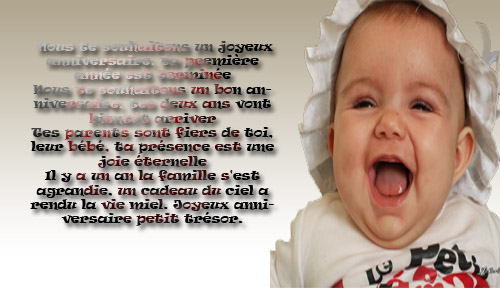 poeme 1 an bebe