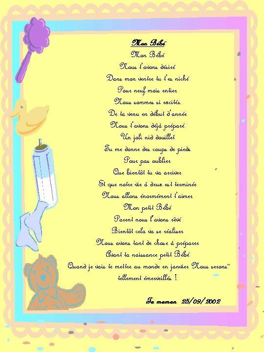 Poeme 1 Ans De Mon Fils