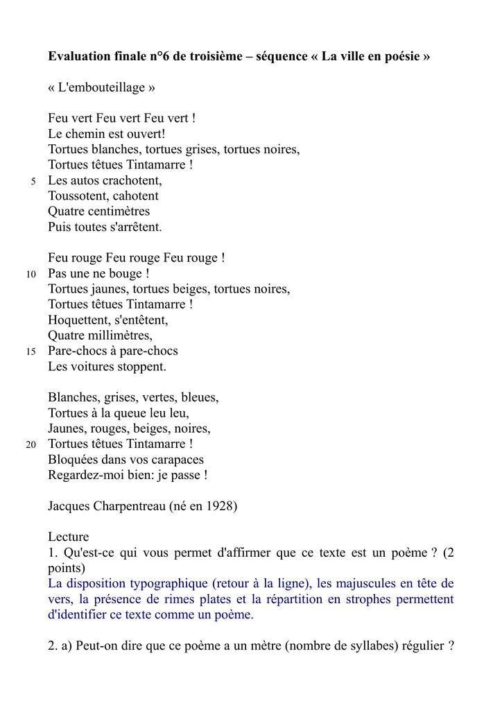 poeme 1 ligne sur 2