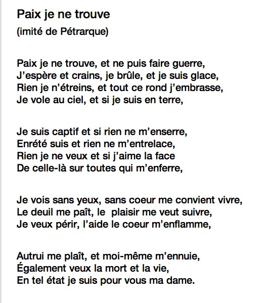 poeme 18 siecle