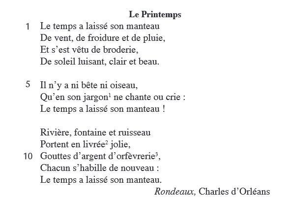 Avec rimes poeme embrassées des Alexandrins, rimes