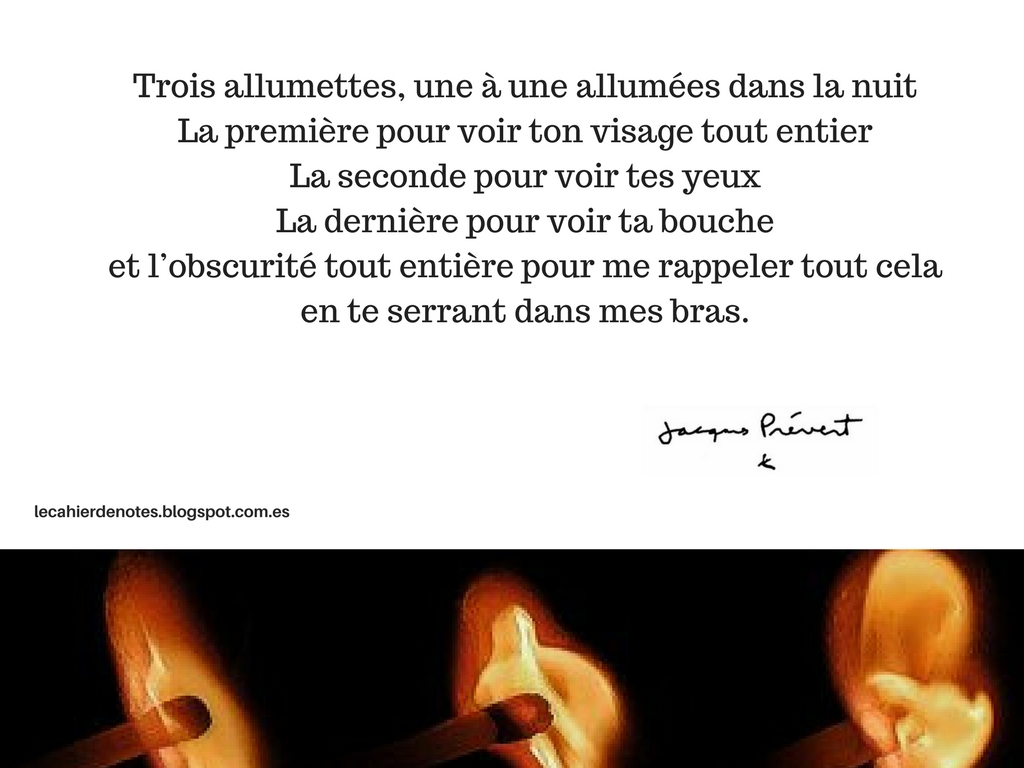 poeme 3 allumettes