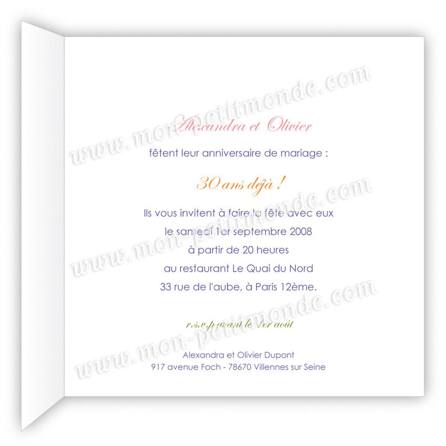 poeme 30 ans de mariage