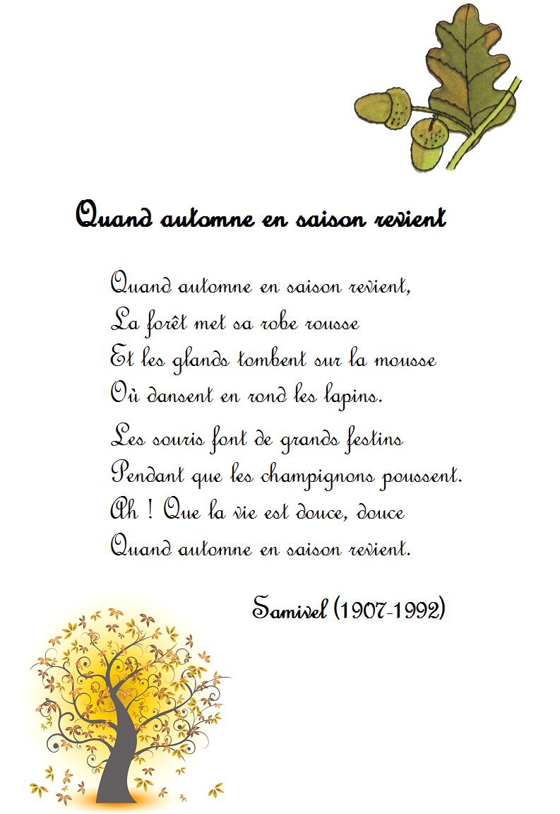 poeme 4 saisons