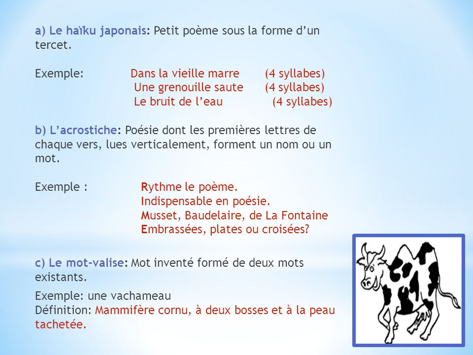 poeme 4 syllabes