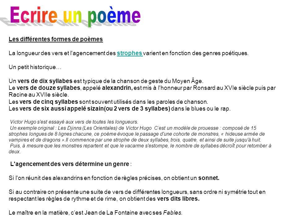 poeme 4 syllabes