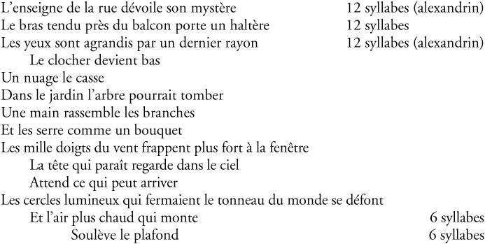 poeme 4 vers alexandrin