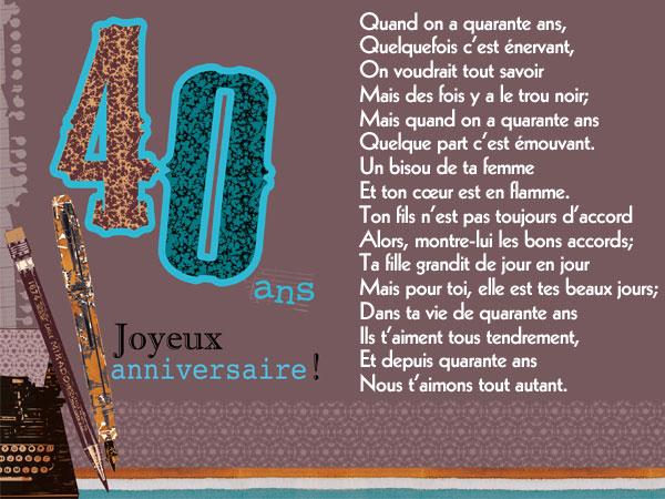 poeme 40 ans