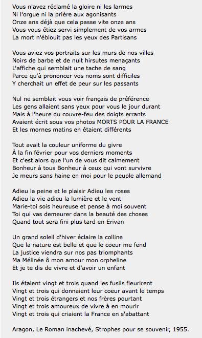 poeme 5 strophes