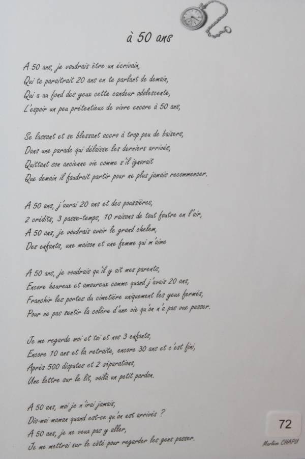 poeme 50 ans