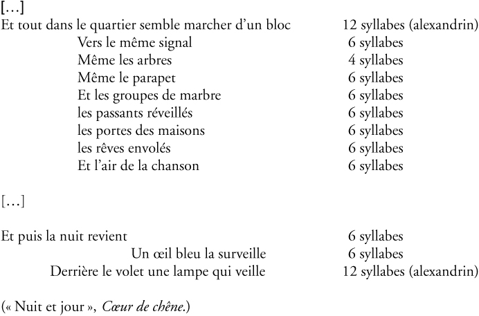poeme 6 syllabes