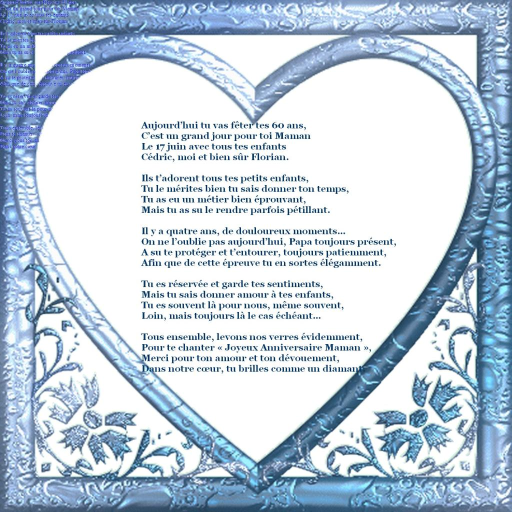 Poeme 60 Ans Femme
