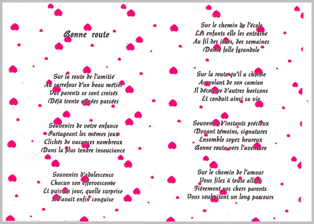 Poeme 65 Ans