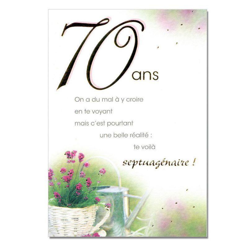 Carte Anniversaire 70 Ans Femme