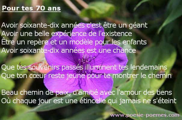 poeme 70 ans maman