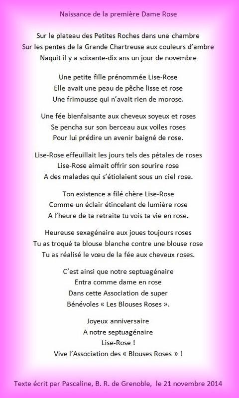 poeme 70 ans
