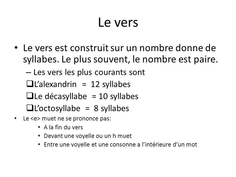 poeme 8 syllabes