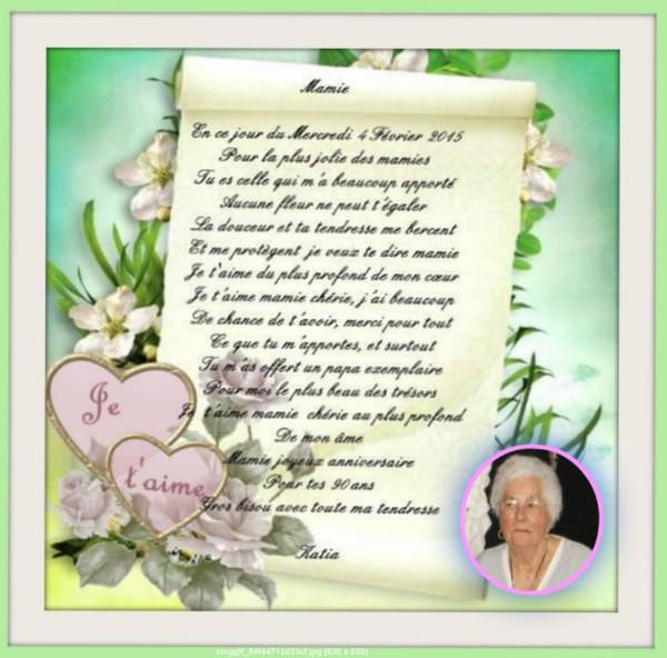 poeme 90 ans maman