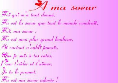 poeme a ma soeur