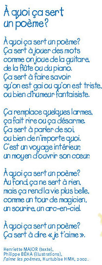 poeme a quoi ca sert