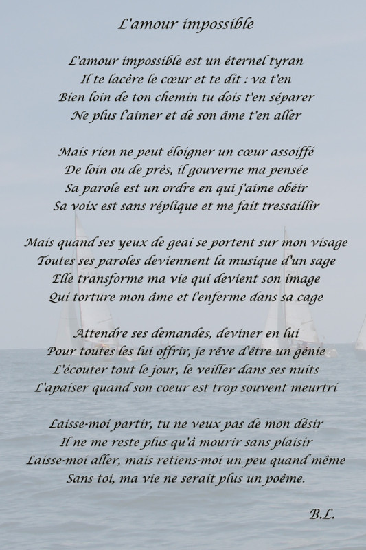 poeme amour impossible