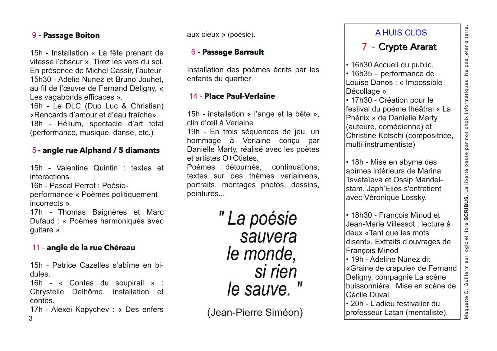 poeme avec o