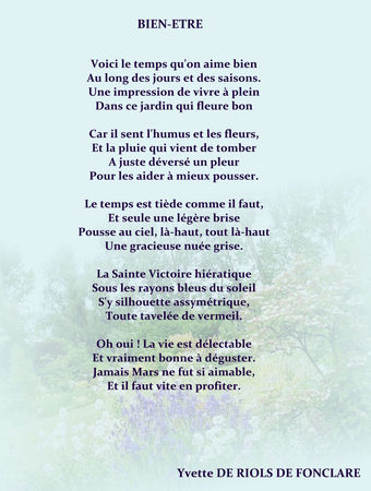 poeme bien etre