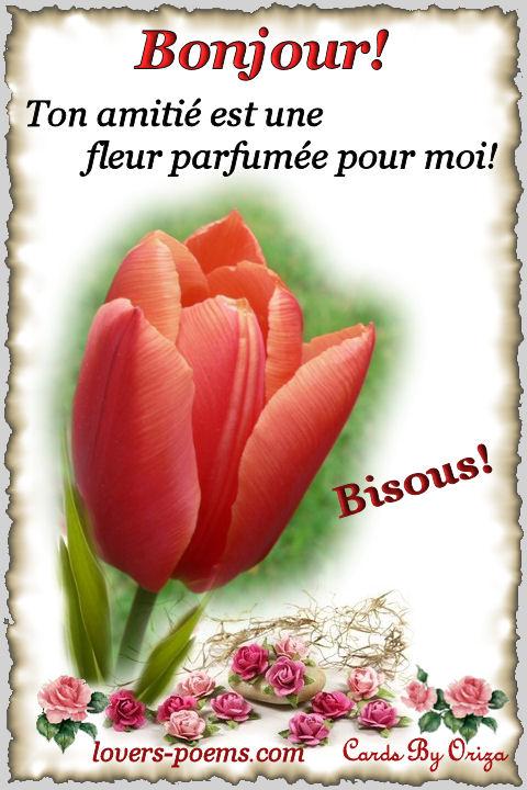 poeme bonjour