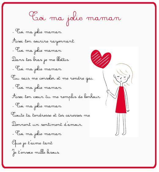 poeme bonne fete maman