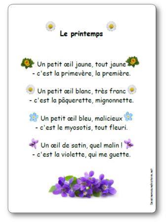 poeme c'est le printemps