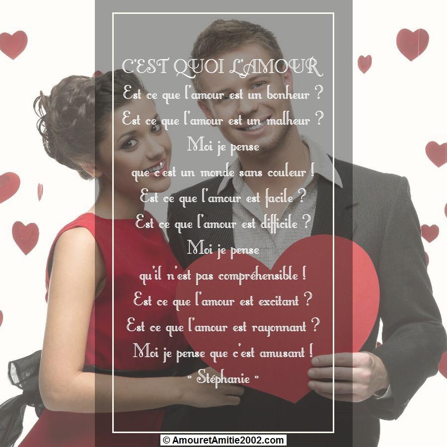 poeme c est quoi l amour