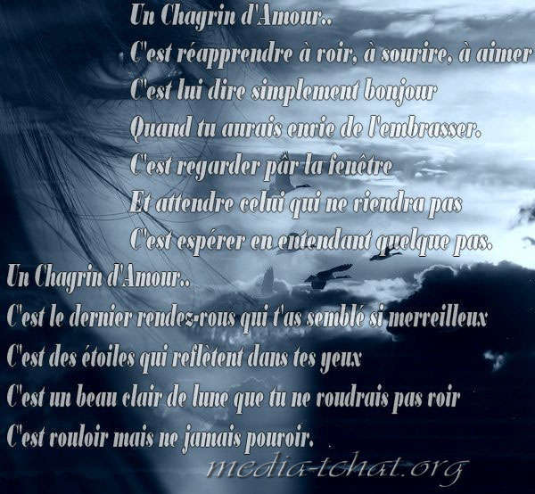 Poeme Chagrin D Amour
