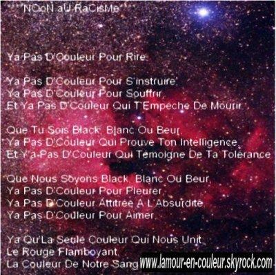 poeme contre le racisme