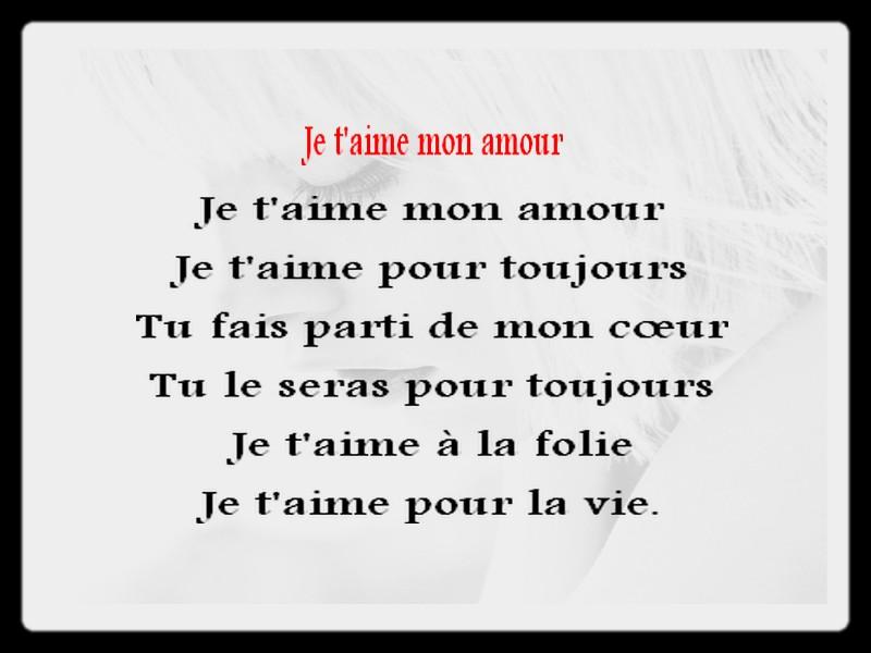poeme court amour