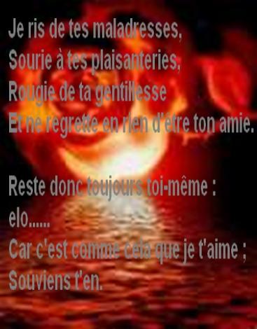poeme d'amitie tres touchant
