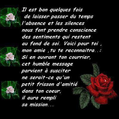 poeme d'amitie