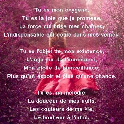 poeme d'amour pour ma fille