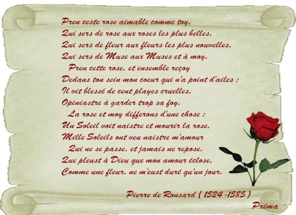 poeme de ronsard