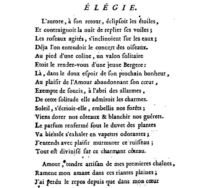 poeme du 18eme siecle