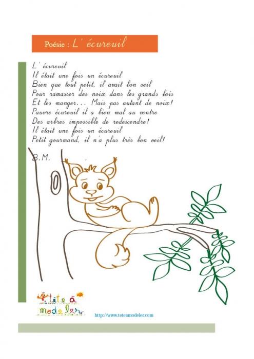 poeme ecureuil