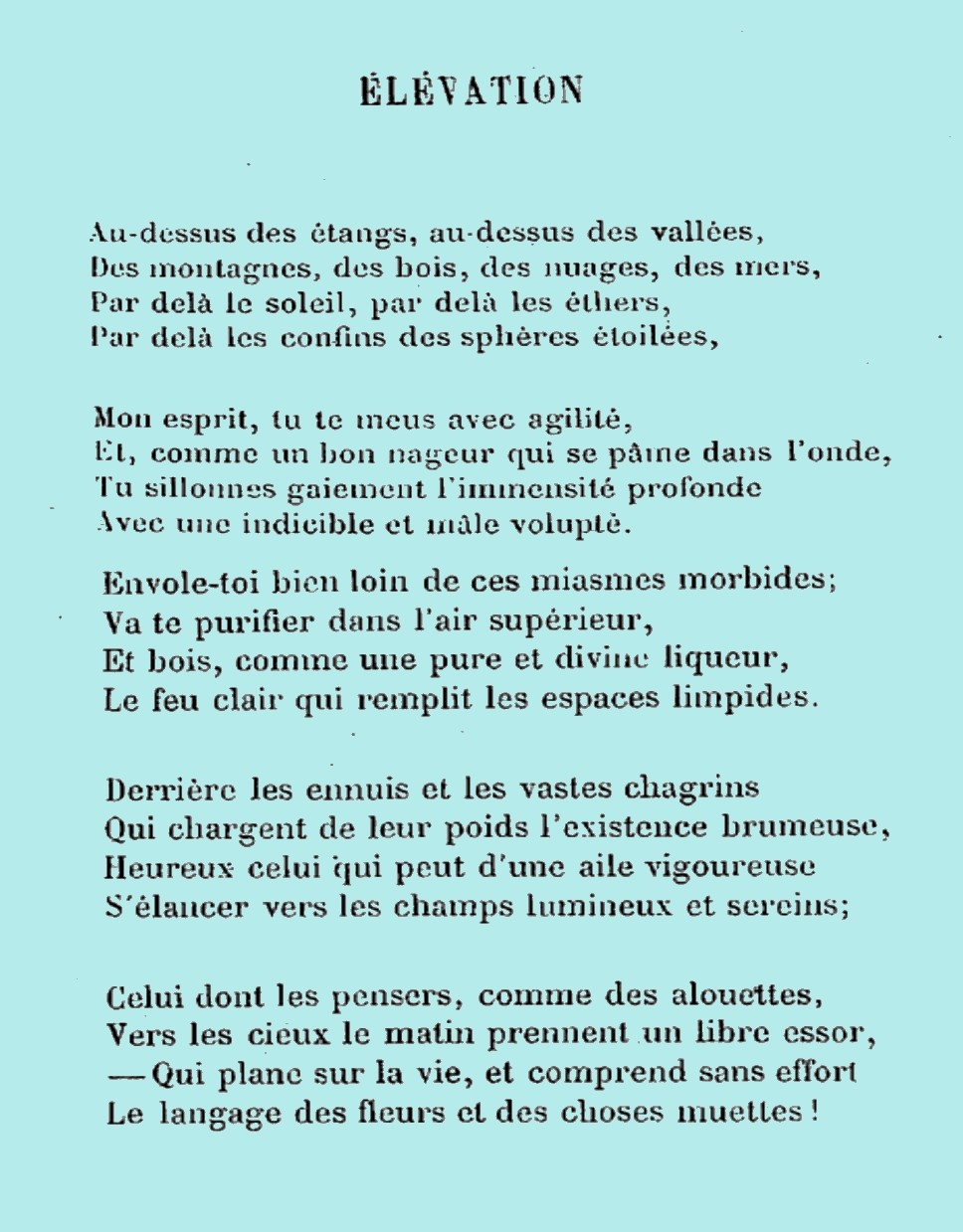 poeme elevation