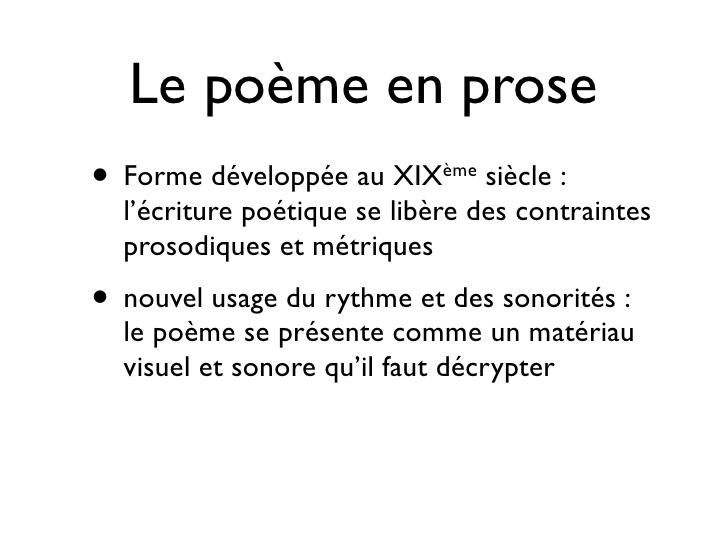 poeme en prose