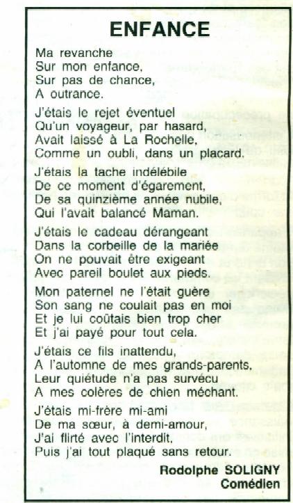 poeme enfance