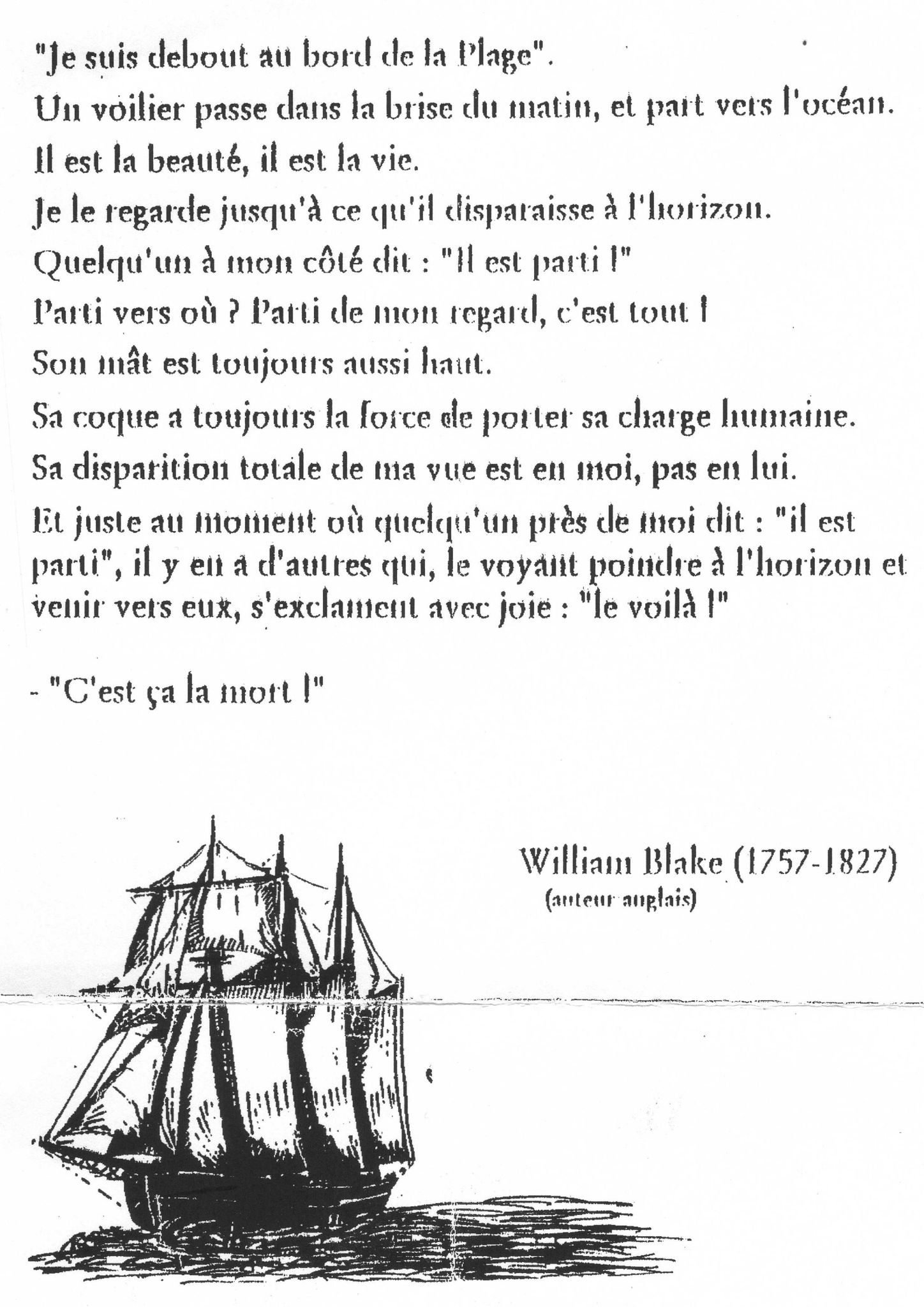 poeme enterrement