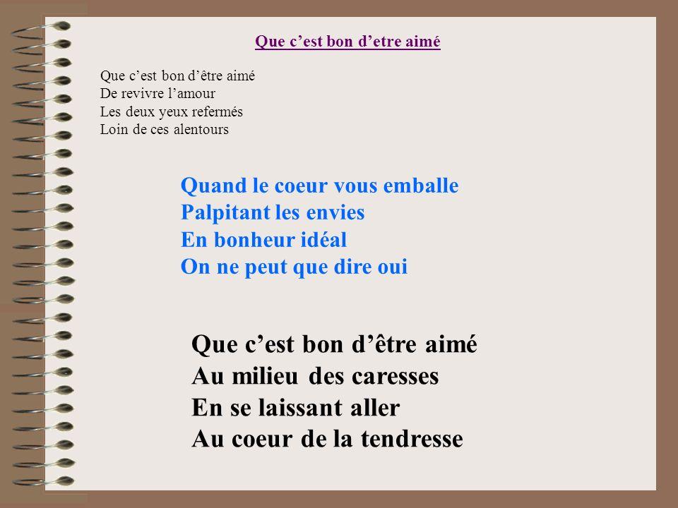 poeme etre aime