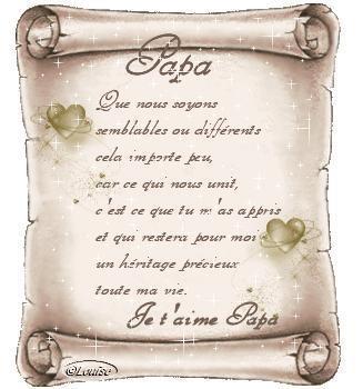 poeme etre pere