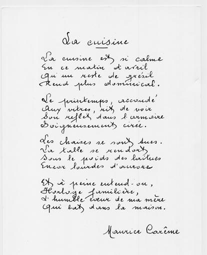 poeme facile