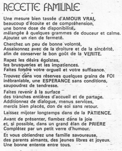 poeme famille