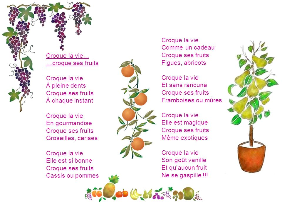 poeme gourmandise