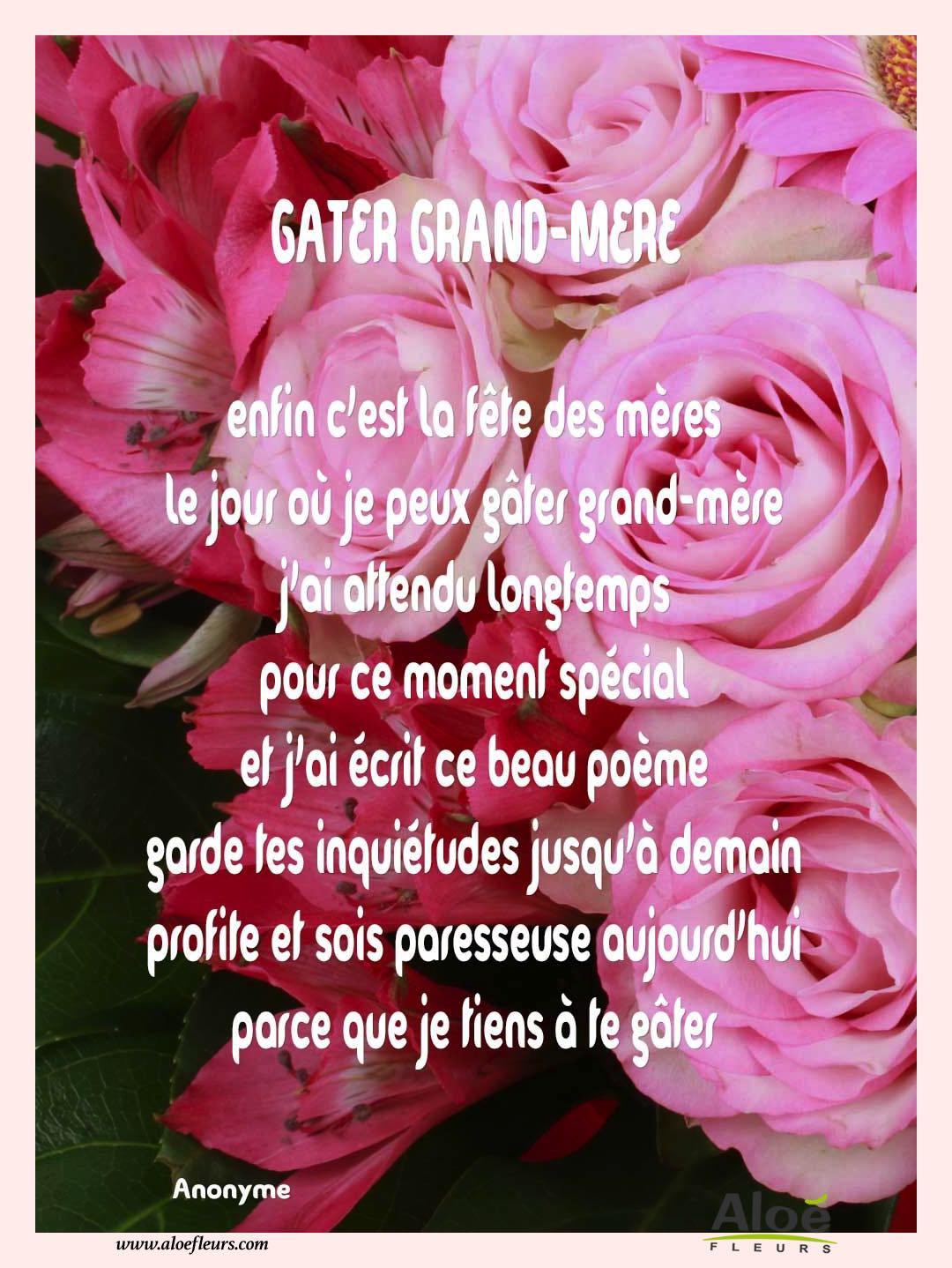 poeme grand mere